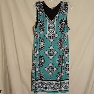 JM Collection sleeveless dress, mint green